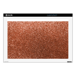 Copper glitter decal for laptop