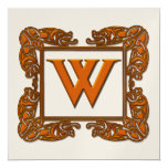 Copper & Gold Monogram Wedding or Party Invitation