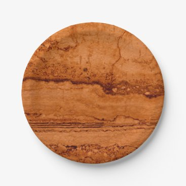 Beach Themed Copper granite paper plate