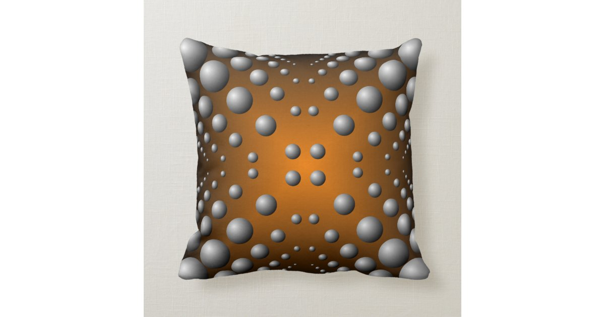 Throw Pillow Design Patterns : Copper gray bubble pattern throw pillow Zazzle