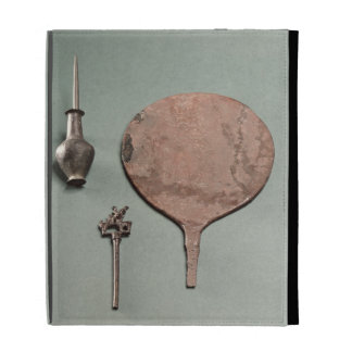 Copper hairpin, collyrium rod with pot and mirror, iPad cases