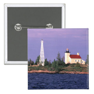 Copper Harbor Lighthouse 2 Inch Square Button