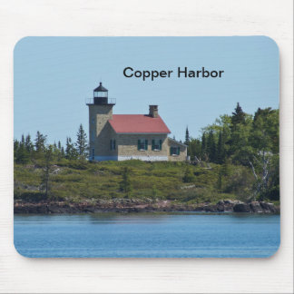 Copper Harbor Lighthouse Mouse Pad