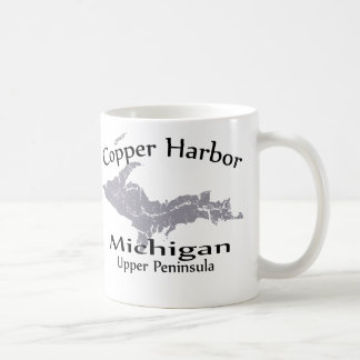 Copper Harbor Michigan Heart Map Design Mug