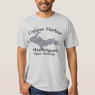 Copper Harbor Michigan Map Design T-shirt