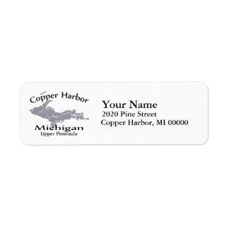 Copper Harbor Michigan Map Return Address Return Address Label