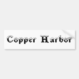 Copper Harbor Michigan Snow Bumper Sticker