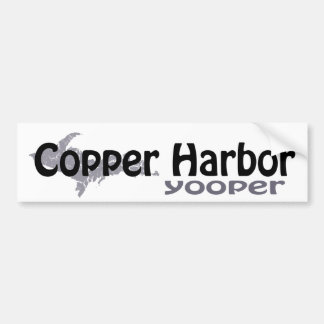 Copper Harbor Michigan Yooper Bumper Sticker