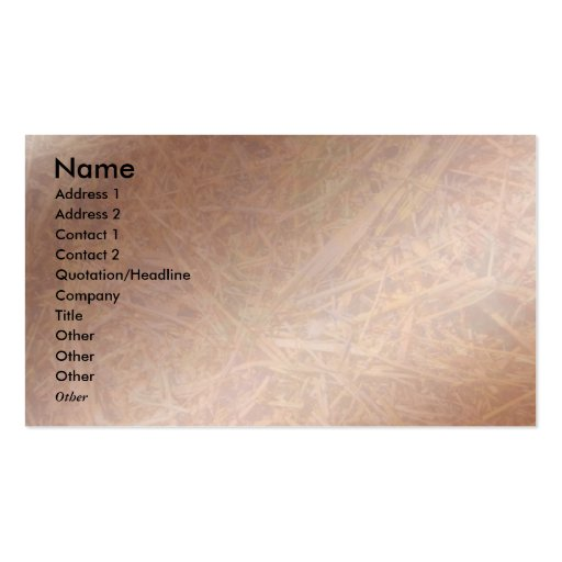 Copper Hay Breaker Visio Business Card Template