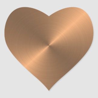 Copper Heart Sticker