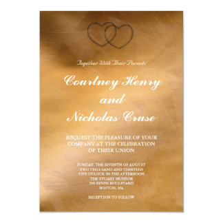 Copper Hearts Wedding Invitations