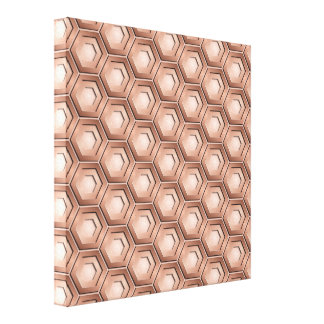 Copper Hex Tiled Canvas
