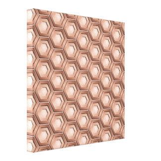 Copper Hex Tiled Canvas