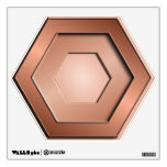 Copper Hex Wall Decal