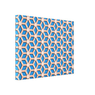 Copper II Tiled Hex Canvas