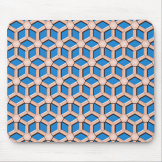 Copper II Tiled Hex Mouse Pad