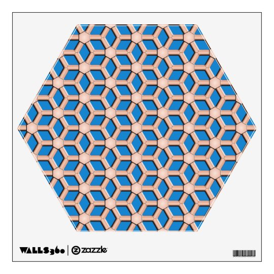 Copper II Tiled Hex Wall Decal