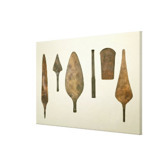 Copper implements, Harappa, 2300-1750 BC Canvas Print