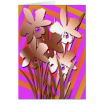copper irises card