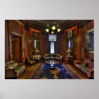 Copper King Mansion Bedroom Parlor - Butte Poster