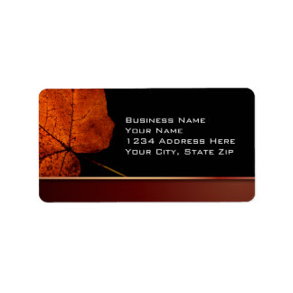 Copper Leaf Label