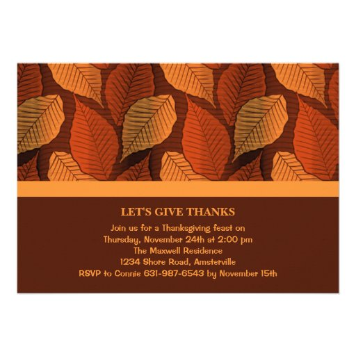 Copper Leaves Invitation