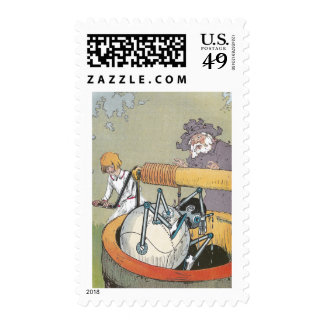 Copper Man Rescued From Well Stamps