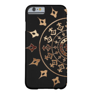 Copper Mandella on Black Barely There iPhone 6 Case