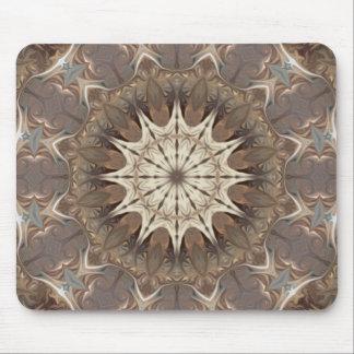 Copper Medallion Kaleidoscope Mouse Pad