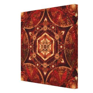 Copper Meditation Mandala Art Canvas
