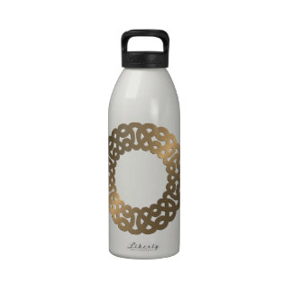 Copper Metallic Celtic Knot Circle Reusable Water Bottles
