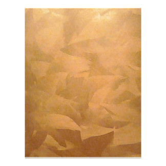 Copper Metallic Faux Finishes Letterhead