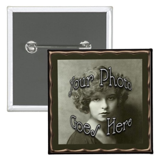 Copper Metallic Frame Template Button