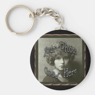 Copper Metallic Frame Template Keychain