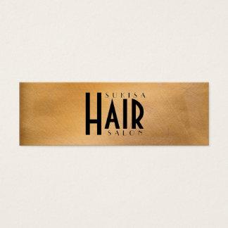 Copper Metallic Hair Salon Skinny Business Cards