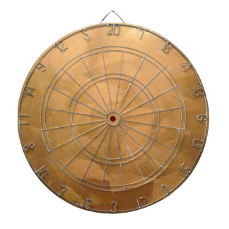 Copper Metallic Hand Brushed Dart Board