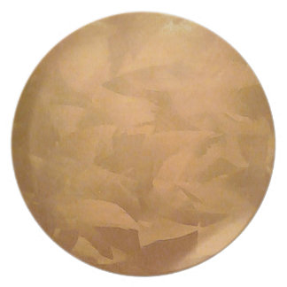 Copper Metallic Hand Brushed Faux Finishes Dinner Plate
