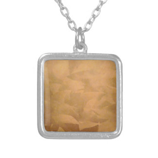 Copper Metallic Hand Brushed Silver Plated Necklace