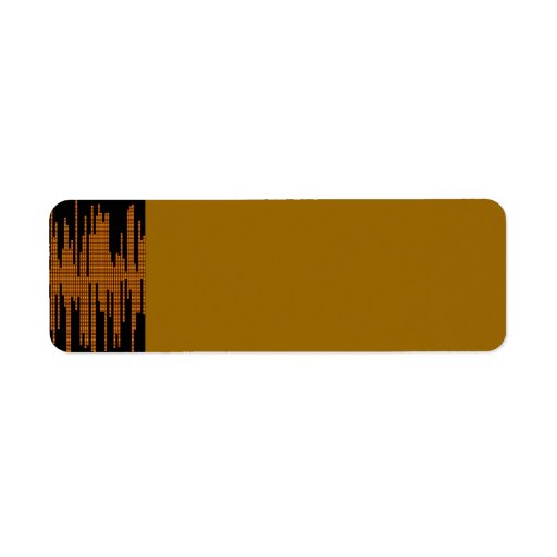 COPPER METALLIC METAL MUSIC BLACK BACKGROUND LABEL