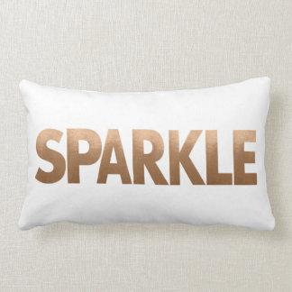 Copper Metallic Sparkle Lumbar Pillow