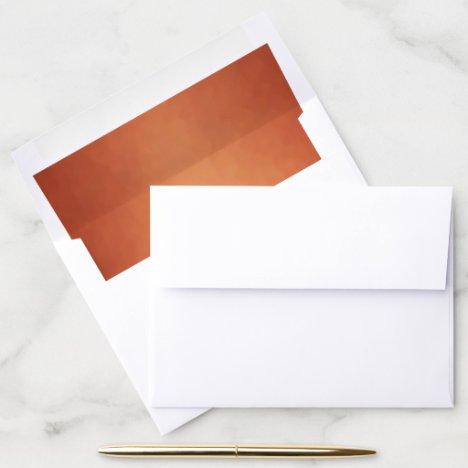 Copper Modern Texture Envelope Liner