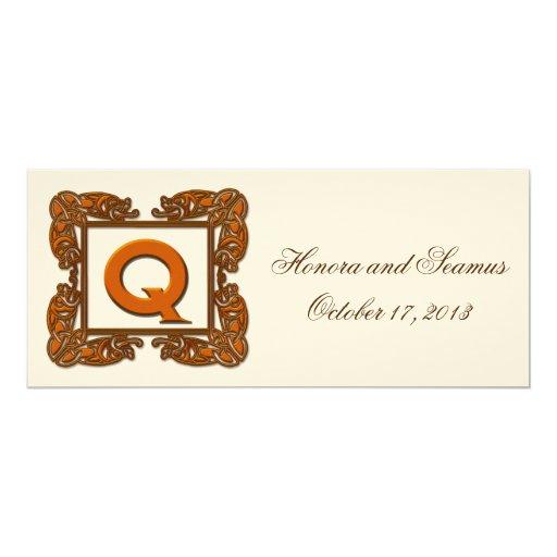 Copper Monogrammed Celtic Wedding Invitation