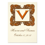 Copper Monogrammed Celtic Wedding Invitation