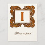 Copper Monogrammed Celtic Wedding RSVP