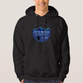 Copper Mountain Colorado blue ski art dark hoodie