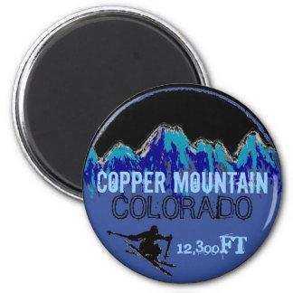 Copper Mountain Colorado blue ski art magnet