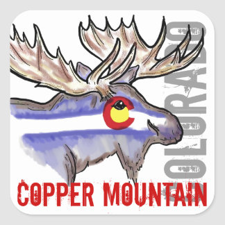 Copper Mountain Colorado flag elk design stickers