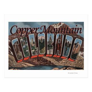 Copper Mountain, Colorado - Large Letter Scenes Postcard