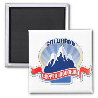 Copper Mountain Colorado 2 Inch Square Magnet