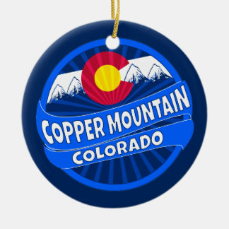 Copper mountain Colorado mountain burst ornament